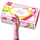 Generation Pink Nitrile Exam Gloves - X-Small 250/Bx. Powder Free, Pink color