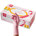 Generation Pink Nitrile Exam Gloves - Small 250/Bx. Powder Free, Pink color