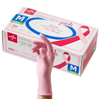 Generation Pink Nitrile Exam Gloves - Medium 250/Bx. Powder Free, Pink color