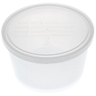 Medline Denture Containers - Clear, 250/Bx. Ideal for bedside storage. Clear