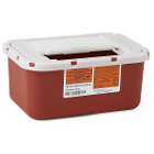 Medline Biohazard Multipurpose Sharps Container - Red, 1 Gal (Each). Designed