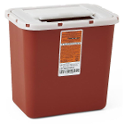 Medline Biohazard Multipurpose Sharps Container - Red, 2 Gal. (Each). Designed