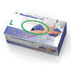 SensiCare Silk Nitrile Exam Gloves: LARGE 250/Bx. Powder-Free
