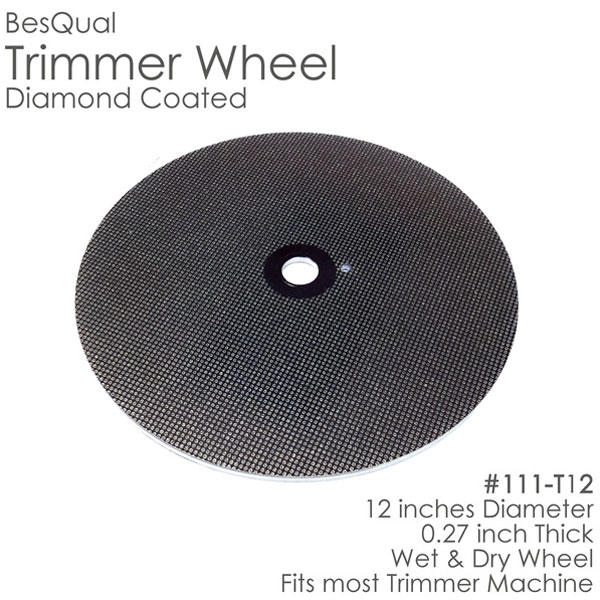 "BesQual Diamond Coated Model Trimmer Wheel 12"". W"