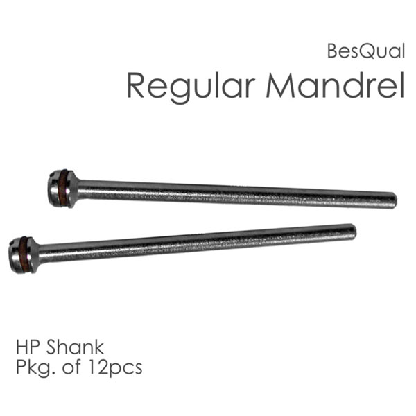 BesQual Regular Mandrel, HP Shank 2.35mm, 12/Pk