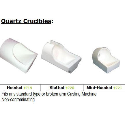 BesQual Crucible - Quartz. Slotted. Fits any standard type or broken arm