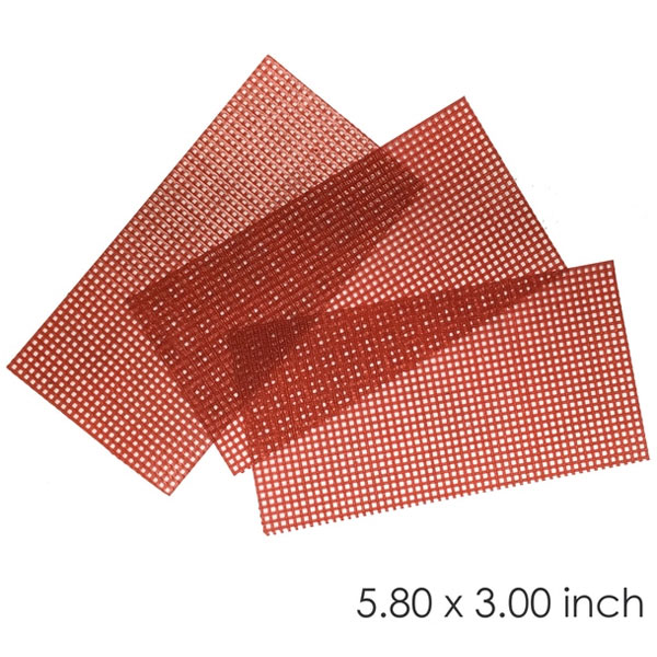 "BesQual Retention Mesh Wax, Red 5.80"" x 3.00"", 10"