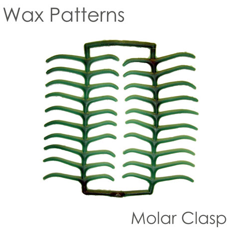 BesQual Wax Patterns - Molar Clasp, Green. Box of