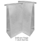 "BesQual Denture Delivery Bags 11"" x 5.5"", 500/Pk. Safely transport your"