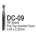 BesQual Diamond Coated Burs - DC09, Inverted Cone 6/Bx. HP Shank 2.35mm. Use