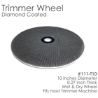 "BesQual Diamond Coated Model Trimmer Wheel 10"". With embedded diamonds, it cuts"