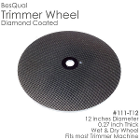 "BesQual Diamond Coated Model Trimmer Wheel 12"". With embedded diamonds, it cuts"