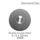 BesQual Diamond Disc DIA #2 - Unmounted, Flex Double Sided. 0.15 x 22mm. Diamond disc only