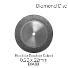BesQual Diamond Disc DIA #3 - Unmounted, Flex Double Sided. 0.20 x 22mm. Diamond disc only