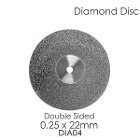 BesQual Diamond Disc DIA #4 - Unmounted, Flex Double Sided. 0.25 x 22mm. Diamond disc only