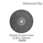 BesQual Diamond Disc DIA #5 - Unmounted, Flex Double Sided. 0.30 x 22mm. Diamond disc only