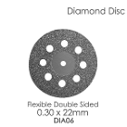 BesQual Diamond Disc DIA #6 - Unmounted, Flex Double Sided. 0.30 x 22mm. Diamond disc only