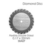 BesQual Diamond Disc DIA #7 - Unmounted, Flex Double Sided. 0.17 x 22mm. Diamond disc only