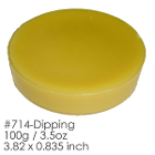 "BesQual Dipping Wax, Yellow. Size: 3.82"" x 0.835"". Weight: 100g (3.5oz)"
