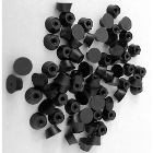 BesQual Dowel Pin Rubber End Caps, 1000/Box