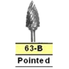 BesQual 63B Flame Laboratory Carbide Bur, HP Shank 2.35mm 1/Pk. Premium