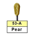 BesQual 53A Pear Titanium Nitrite Coated Carbide Bur 1/Pk. HP Shank 2.35mm