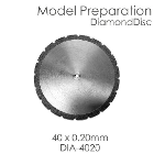 BesQual Model Preparation Diamond Disc 40mm x 0.20mm. Diamond disc only, mandrel not included