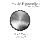 BesQual Model Preparation Diamond Disc 40mm x 0.30mm. Diamond disc only, mandrel not included