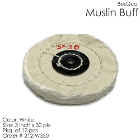 "BesQual Muslin Buff - 3"" x 30 ply, White, 12/Pk. High quality with uniform"