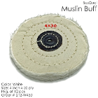 "BesQual Muslin Buff - 4"" x 30 ply, White, 12/Pk. High quality with uniform"