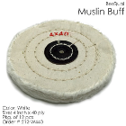 "BesQual Muslin Buff - 4"" x 40 ply, White, 12/Pk. High quality with uniform"