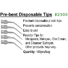 BesQual Pre-bent Disposable Tips, Plastic 100/Pk. Prevents contamination. Easy