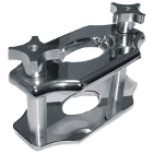 BesQual Reline Jig. Chrome two-post jig used for accurate reline applications