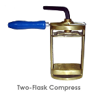 BesQual Two Flask Denture Compress. Made of bronze metal that will last