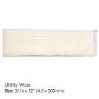 "BesQual Utility Wax, White 3/16"" x 12"", 1 Lb. Very flexible at room temperature"