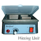 BesQual Waxing Unit. Adjustable heat control. Front panel light indicator