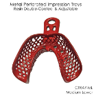 CTrays Resin Double Coated Impression Trays - Medium Lower Arch, Red 12/Pk