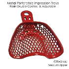 CTrays Resin Double Coated Impression Trays - Medium Upper Arch, Red 12/Pk