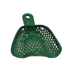 CTrays Resin Double Coated Impression Trays - Small Upper Arch, Green 12/Pk