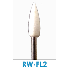 Meta FL2 white mounted stones, RA, 12/box - Flame, 2.35mm right angle latch