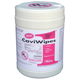 "CaviWipes1 Towelettes (X-Large) 65/Can. 9"" x 12"""