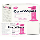 "CaviWipes1 Towelettes (X-Large) Singles, Box of 50 single wipes. 9"" x 12"""