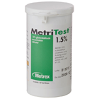 MetriTest 1.5% Glutaraldehyde Indicator Strips, 60 Strips/Bottle. To test