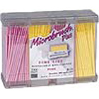 Microbrush Plus with Dispenser and Fine Yellow & Pink 400/Pk. Dispenser Series