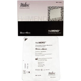 HeliMend Collagen Membrane 30 x 40 mm, absorbs in