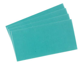 Miltex Casting Wax - Green, 28 gauge, 32 sheets per box