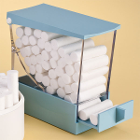 "Miltex BLUE Deluxe Cotton Roll Dispenser, Drawer type, 4"" tall. Delivers up"