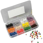 Miltex Medium code rings in 12 assorted colors, safe for all types
