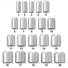 Miltex Aluminum Shell assorted sizes #1 - 20, box of 100 shells
