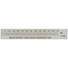 "Miltex Endo Ruler 3"" w/out Clip Left-Handed, Stainless Steel"